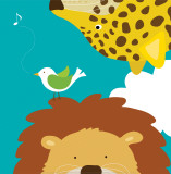 Safari Group: Leopard and Lion Poster by Yuko Lau