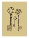 Antique Keys III Póster por  Vision Studio