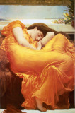 Slapende vrouw: Flaming June Poster