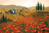 Hills of Tuscany II Print by Steve Wynne