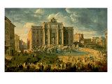 The Trevi Fountain In Rome 1753-56 Reproduction giclée Premium par Giovanni Paolo Pannini