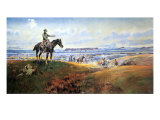 C. M. Russell and His Friends Premium Giclée-tryk af Charles Marion Russell