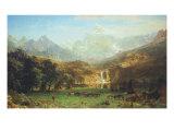 The Rocky Mountains, Lander's Peak Premium Giclee Print by Albert Bierstadt