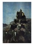 The Old Stage Coach of the Plains Premium Giclee Print by Frederic Sackrider Remington