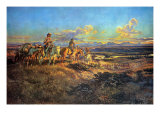 Where Guns Were Their Passports Premium Giclée-tryk af Charles Marion Russell