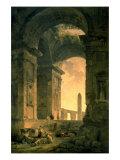 The Landscape with Obelisk Premium Giclee Print by Hubert Robert