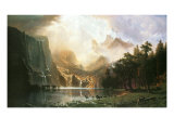 The Sierra Nevada in California Premium gicléedruk van Albert Bierstadt
