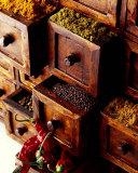 Spices in Drawers Kunstdrucke von Philip Wilkins