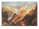 Le Grand Cañon de Yellowstone Reproduction giclée Premium par Thomas Moran