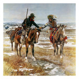 A Doubtful Handshake Premium Giclee Print by Charles Marion Russell