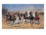 A Dash for Timber Premium Giclee Print by Frederic Sackrider Remington