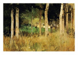 The Cottage Amongs The Birch Trees Posters par Berthe Morisot