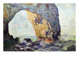 The Rocky Cliffs of retat (La Porte Man) Posters by Claude Monet