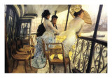 The Gallery of the H.M.S. Calcutta Poster by James Tissot