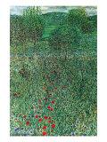 Garden Landscape Prints by Gustav Klimt
