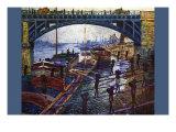 The Coal Carrier Plakat af Claude Monet