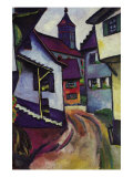 Street with a Church In Kinder Posters by Auguste Macke