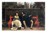 Faust and Marguerite In The Garden Print by James Tissot