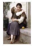 A Little Coaxing Posters par William Adolphe Bouguereau