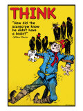 Think Poster by Wilbur Pierce