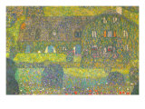 House In Attersee Posters por Gustav Klimt