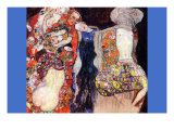 Adorn The Bride with Veil and Wreath Poster von Gustav Klimt