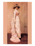 Nocturne In Pink and Gray, Portrait of Lady Meux Poster van James Abbott McNeill Whistler