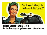 Find Your War Job Stampe