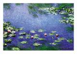 Waterlelies Schilderij van Claude Monet