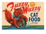 Fuzzy Wuzzy Brand Cat Food Poster