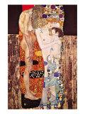 De drie levensfasen van een vrouw Premium gicléedruk van Gustav Klimt