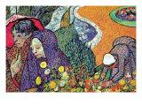Promenade In Arles Kunstdrucke von Vincent van Gogh