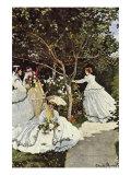Frauen im Garten Giclée-Premiumdruck von Claude Monet