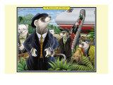 A Business of Ferrets Lámina giclée prémium por Kelly, Richard