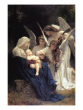 Song of The Angels Print by William Adolphe Bouguereau