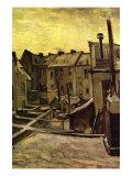 Backyards of Old Houses In Antwerp In The Snow Kunst von Vincent van Gogh