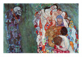 Tod und Leben (Gold) Giclée-Premiumdruck von Gustav Klimt