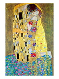 De kus Poster van Gustav Klimt