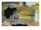 Camille In The Garden with Jean and His Nanny Giclée-Premiumdruck von Claude Monet
