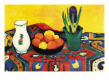 Still Life with Hyacinthe Poster af Auguste Macke