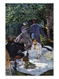 The Breakfast Outdoors, Central Section Giclée-Premiumdruck von Claude Monet