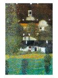 Castle Chamber At Attersee II Giclée-Premiumdruck von Gustav Klimt