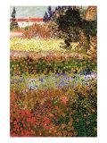 Flowering Garden with Path Poster von Vincent van Gogh