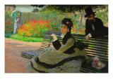 Camille Monet On a Garden Bench Prints by Claude Monet