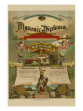 Symbols - Masonic Diploma Posters