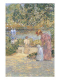 Staircase In Central Park Prints by Childe Hassam