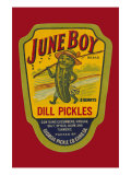 June Boy Dill Pickles Poster
