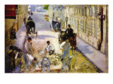 Road Workers, Rue De Berne Poster by Edouard Manet