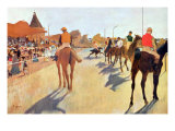 Grand Stand Posters af Edgar Degas