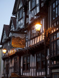 Ye Old Bullring Tavern Public House Dating from 14th Century, at Night, Ludlow, Shropshire, England Photographic Print by Nick Servian